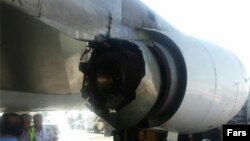 موتور خراب شده هواپیمای ماهان