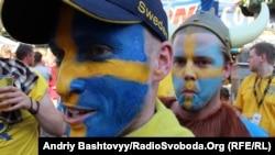 Швеция құрамасының жанкүйерлері. Киев, 19 маусым 2012 жыл