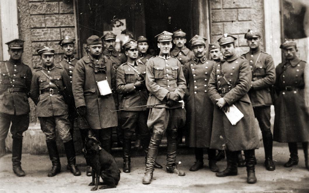 Польскія вайскоўцы ў Менску 15 кастрычніка 1921 года