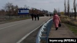 Пункт пропуска на админгранице с Крымом