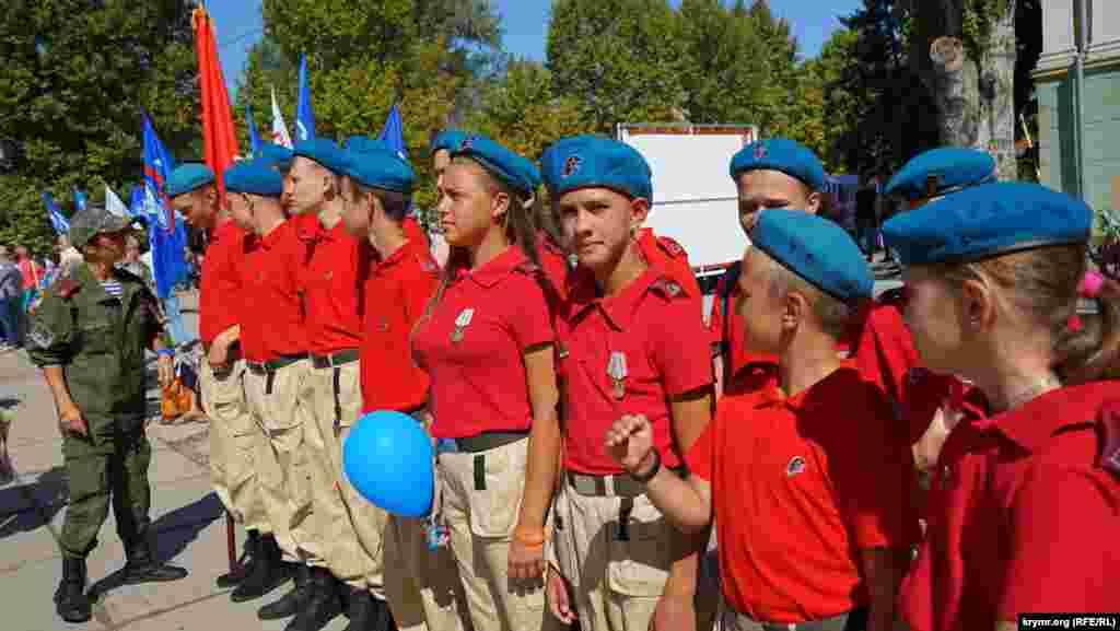 Участники российского движения «Юнармия»