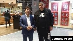 Шарофиддин Гадоев в аэропорту Франкфурта