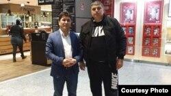 Sharofiddin Gadoev at the Frankfurt Airport on March 2