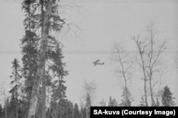 A Soviet plane on a bombing run.