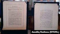 «İstiqlal Bəyannaməsi»nin orijinalı