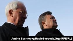 Колишній прем'єр-міністр України Микола Азаров (л) і екс-президент Віктор Янукович (архівне фото)
