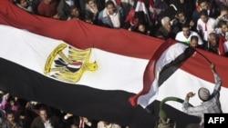 Египеттин улуттук байрагы, 8-феврал, 2011-ж