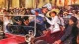 Sarajevo, Bosnia and Herzegovina, Franz Ferdinand assassination, scene form a movie