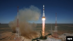 The Soyuz rocket carrying the Progress-class ship blasted off from the Russian-leased Baikonur Cosmodrome in Kazakhstan. (file photo)