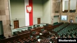 Зал заседаний польского Сейма