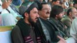 Manzoor Pashteen (left) at a Pashtun rally in Quetta