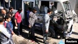 آثار إنفجار عبوة ناسفة في مدينة الصدر