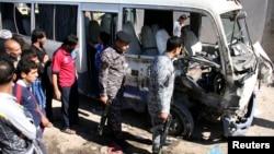 آثار تفجير عبوة ناسفة في مدينة الصدر ببغداد