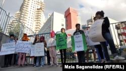 Protestul grupului feminist la Tbilisi