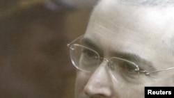 Михаил Ходорковский в зале Хамовнического суда