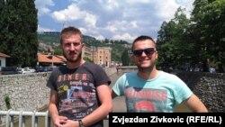 Srđan Olman (lijevo) i Dušan Varničić u Sarajevu, juni 2015.