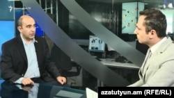 Эдмон Марукян (слева) в студии Азатутюн ТВ