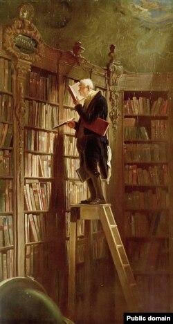 Карл Шпіцвэг, «Кніжны чарвяк» (1850)