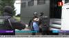 Один із кадрів затримання на телебаченні в Білорусі, 29 липня 2020 року