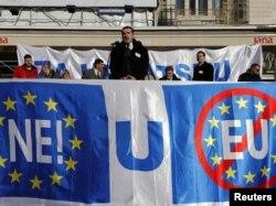 Prosvjed euroskeptika, Zagreb, 14. siječanj 2012.