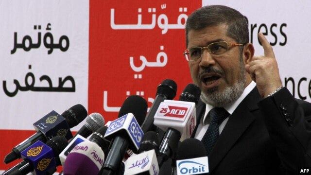 Muslim Brotherhood presidential candidate Muhammad Mursi