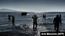 მიგრანტები ეგეოსის ზღვაში