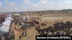 محتجون في محافظة الأنبار