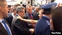Напад на президента Польщі Броніслава Коморовського в Луцьку
