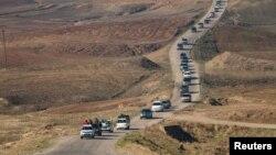 Калёна курдзкіх ваяўнікоў у Сырыі 12 лістапада