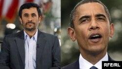 Экс-президент Ирана Махмуд Ахмадинежад (слева) и президент США Барак Обама.