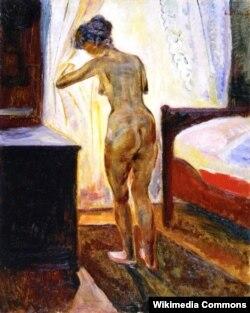 Эдвард Мунк, «Раніца (Голая каля акна)», 1902