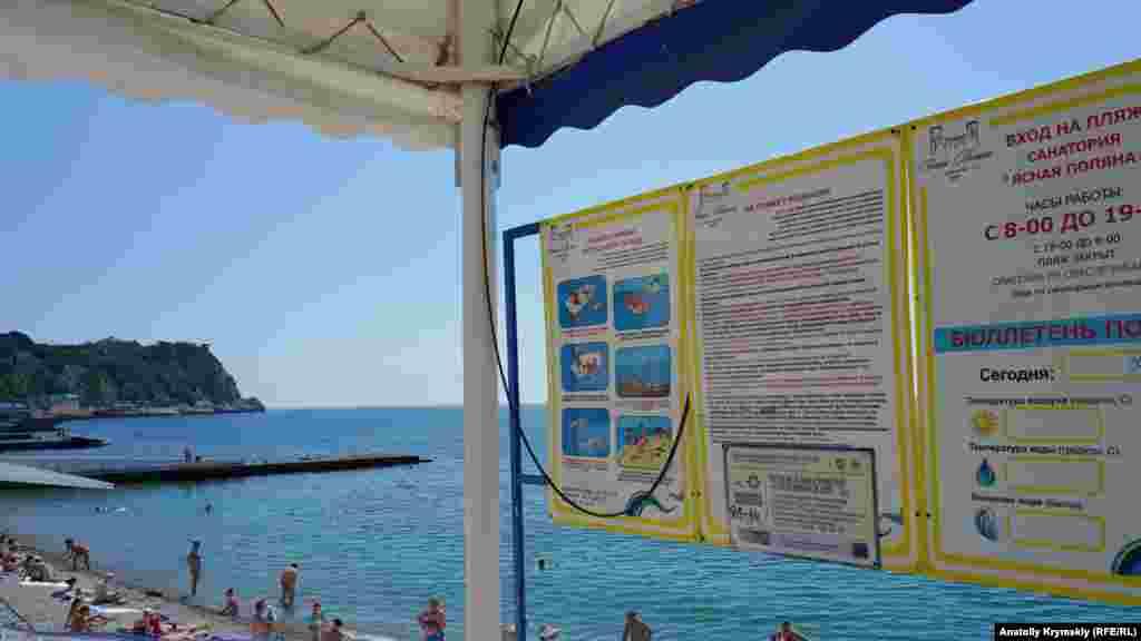 Больше всего отдыхающих – на пляже санатория «Ясная поляна»