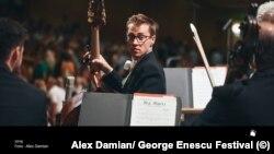 Partitura de la Vox Maris, lucrare enesciană interpretată în festival de London Symphony Orchestra