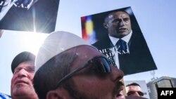 Protest podrške Ramušu Haradinaju u Prištini