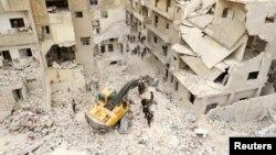 چهارمین منطقه موسوم به «کاهش تنش» قرار است در استان ادلب (در تصویر: باقیماندههای شهر اریحا) واقع در شمال سوریه، نزدیک مرز ترکیه برقرار شود