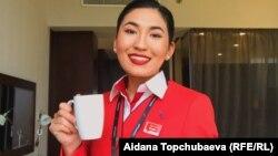 Наргиза Калназарова «Air Arabia» авиакомпаниясына стюардесса болуп тандалып алынды.