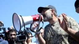 WATCH: Armenia Antigovernment Protests Restart