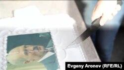 """Торт с портретом """"последнего диктатора Европы"""""""