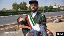 Ребенок, погибший в теракте в Иране