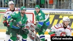 A KHL match between Salavat Yulayev and Ak Bars Kazan in Ufa, Bashkortostan, in March 2011