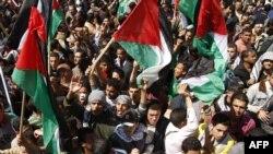 Дэманстрацыя палестынцаў за адзінства ў Газе