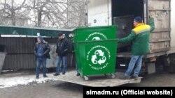 Новые контейнеры для мусора в Симферополе