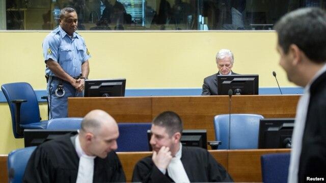 Detalj iz sudnice tijekom izricanja presude, 28. veljače 2013.