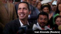 Венесуэла оппозициясының жетекшісі Хуан Гуайдо.