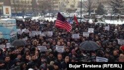 Protestat për lirimin e Haradinajt