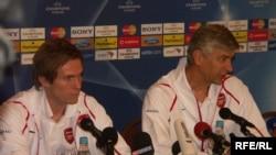 Александр Глеб и Арсен Венгер в Москве. Фото И.Швейцера