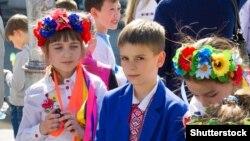 Украінскія школьнікі. Крывы Рог. 2017 год.