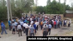 Конфликт в селе на участке кыргызско-таджикской границы. 4 августа 2015 года.