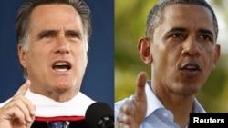 Ромни (слева) и Обама