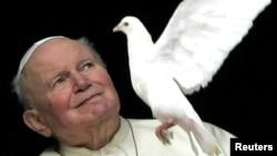Папа Римский Иоанн Павел Второй в январе 2005 года.
